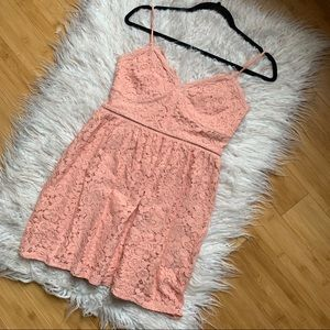 Express lace Fit & Flare Dress